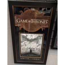 Game Of Thrones AUTOGRAPH by 22 Cast SIGNED IN PERSON 10x8 Photo Framed - SOLD OUT