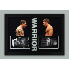 Tom Hardy & Joel Edgerton AUTOGRAPH Warrior SIGNED IN PERSON MMA Glove Display - SOLD OUT