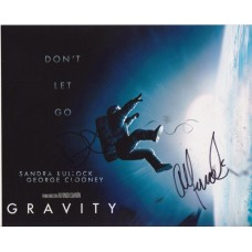 Sandra Bullock, Alfonso Cuaron & David Heyman AUTOGRAPHED Gravity SIGNED IN PERSON 10x8 - SOLD OUT