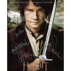 The Hobbit Autographed By 5 SIGNED IN PERSON 10x8 Photo