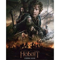 Hobbit The Battle of the Five Armies AUTOGRAPHED BY 8 SIGNED IN PERSON 10x8 - SOLD OUT