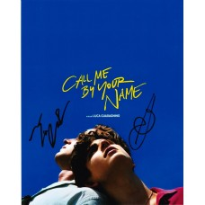 Timothée Chalamet & Luca Guadagnino AUTOGRAPH Call Me By Your Name SIGNED IN PERSON 10x8 Photo