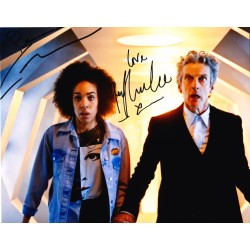 Peter Capaldi & Pearl Mackie AUTOGRAPH Dr WHo SIGNED IN PERSON 10x8 photo