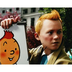 Jamie Bell AUTOGRAPH Tintin SIGNED IN PERSON 10x8 Photo