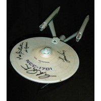 Star Trek U.S.S Enterprise SIGNED IN PERSON Nimoy & Shatner