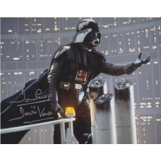 James Earl Jones & Dave Prowse AUTOGRAPH Star Wars SIGNED IN PERSON 10x8 Photo