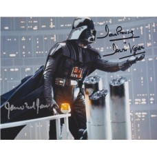 James Earl Jones & Dave Prowse AUTOGRAPH Star Wars SIGNED IN PERSON 10x8 Photo - SOLD OUT