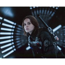 Felicity Jones AUTOGRAPH Rogue One Star Wars SIGNED IN PERSON 10x8 Photo - SOLD OUT
