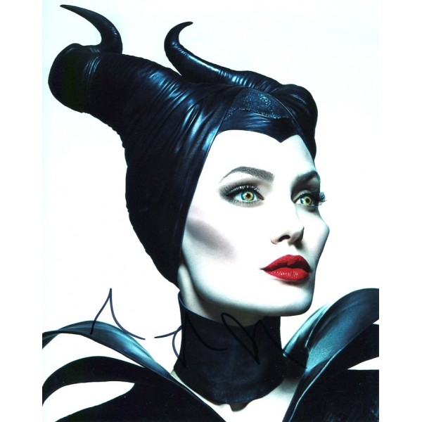 Angelina Jolie Autograph Maleficent Signed In Person