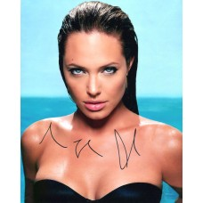 Angelina Jolie AUTOGRAPH Posed SIGNED IN PERSON 10x8 photo