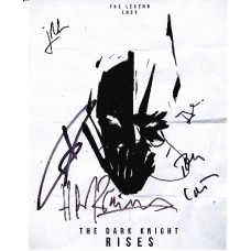 Dark Knight Rises AUTOGRAPHS Signed by 6 SIGNED IN PERSON 10x8 photo