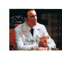 Sir Christopher Lee AUTOGRAPH Man With the Golden Gun SIGNED IN PERSON 10x8 photo