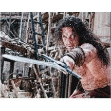 Jason Momoa AUTOGRAPH Conan The Barbarian SIGNED IN PERSON 10x8 Photo - SOLD OUT