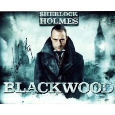 Mark Strong AUTOGRAPH Sherlock Holmes SIGNED IN PERSON 10x8 photo