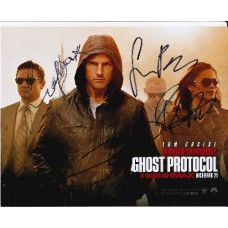 Mission Impossible Ghost Protocol AUTOGRAPHED by 4 SIGNED IN PERSON 10x8 photo