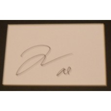 Jamie Campbell Bower AUTOGRAPH Twilight SIGNED IN PERSON Index Card Presentation