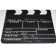 Tom Hooper & Gareth Unwin AUTOGRAPH The King's Speech SIGNED IN PERSON Clapperboard