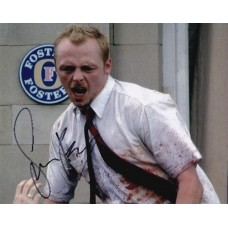 Simon Pegg AUTOGRAPH Shaun Of The Dead SIGNED IN PERSON 10x8 photo - SOLD OUT