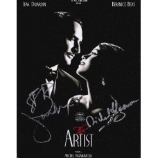 The Artist AUTOGRAPHED by 3 SIGNED IN PERSON 10x8 photo - SOLD OUT
